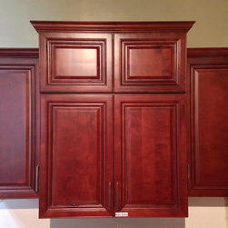 Stock Clearance - Maple Cherry Pantry Cabinet - Solid Wood Maple Cherry Kitchen Cabinet