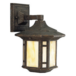 Progress Lighting - Progress Lighting Arts & Crafts Traditional Outdoor Wall Sconce X-64-8265P - This Progress Lighting outdoor wall sconce has blended bold clean lines with Arts and Crafts influencing for a surprisingly up-to-date look that is sure to please. From the Arts & Crafts Collection, this classic lantern design comes finished in a Weathered Bronze hue that compliments the golden tones of the light honey glass panels.