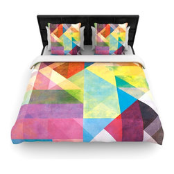 "Kess InHouse - Mareike Boehmer ""Color Blocking II"" Rainbow Abstract Fleece Duvet Cover (Twin, 6 - You can curate your bedroom and turn your down comforter, UP! You're about to dream and WAKE in color with this uber stylish focal point of your bedroom with this duvet cover! Crafted at the click of your mouse, this duvet cover is not only personal and inspiring but super soft. Created out of microfiber material that is delectable, our duvets are ultra comfortable and beyond soft. Get up on the right side of the bed, or the left, this duvet cover will look good from every angle."