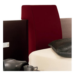 Rossetto - Rossetto Win Headboard Pillow in Red (Set of 2) - Rossetto - Pillows - T26669B002N39 - Style comfort and design integrated into one. The upholstered leather effect will further enhance the Win Float platform bed (sold separately).