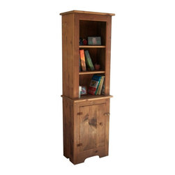 "Twig Country - Twig Country Kitchen Cabinet with Hutch Multicolor - TC75H - Shop for Pantries from Hayneedle.com! The Twig Country Kitchen Cabinet with Hutch presents a warm lovely accent as well as functionality for storage and display. Featuring antique hinges a solid doorknob and a quaint closure this cabinet and complementary hutch are constructed from solid wood. This wood is refurbished lumber saved from the dumpster and turned into one-of-a-kind furnishings that are fully functional. Enjoy the wood's natural grain that shines through the hand-rubbed organic wax finish. Show off your finest china store your cookbooks and add a delightful touch of country to your kitchen. About Twig Country FurnitureReclaimed recycled and reborn for your enjoyment Twig Country Furniture has been creating unique environmentally responsible household decor for more than 25 years. Their primitive-style furniture is entirely handcrafted from century-old timbers reclaimed from Midwestern homes and buildings slated for demolition. From ""trash to treasure ""each one-of-a-kind piece is carefully cleaned and sanded built then hand-rubbed with an old-fashioned wax finish. The fun funky functional designs call to mind a simpler era."