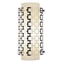 Robert Abbey - Robert Abbey Jonathan Adler Parker Half Round Wall Sconce S662 - Polished Nickel Finish Over Metal