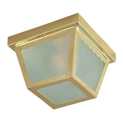 Maxim Lighting - Maxim Lighting 2-Light Outdoor Ceiling Mount, Antique Brass - 6204FTAB - Maxim Lighting's commitment to both the residential lighting and the home building industries will assure you a product line focused on your lighting needs. with Maxim Lighting's Outdoor Essentials collection you will find quality product that is well designed, well priced and readily available.