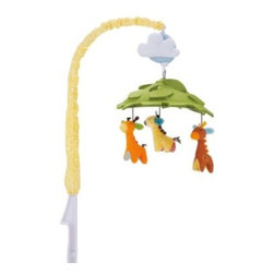 Skip Hop - SKIP*HOP Musical Crib Mobile in Giraffe Safari - Soothe baby to sleep with this musical crib mobile. As the patterned arm of the mobile gently rotates slowly to a classical tune, baby can gaze at the multiple colors, faces and patterns above.