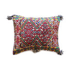 Baba Souk - One-Of-A-Kind Moroccan Kilim Pillow - Exotic hand-weaved Berber cushions. All wonderfully eccentric. Truly artistic creations. A delight for you and your interior design.