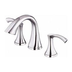 DANZE INC - Lead Law Compliant 2 Handle Widespread Lavatory Faucet Polished Chrome 1.5 GPM -
