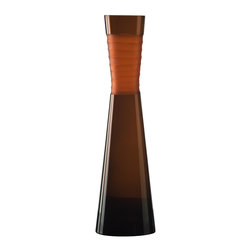 Cyan Design - Cyan Design Large Orange Chiseled Neck Vase X-35900 - This Cyan Design large vase starts with a contemporary, elongated shape with a gentle tapered neck and flared lip. The sleek body features chiseled glass detailing around the neck and pairs its glass body with a stunningly rich Orange hue that delights in any season.