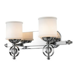Golden Lighting - Golden Lighting 1030-BA2 Modern Two Light Bathroom Fixture from the Cerchi Colle - Modern Two Light Bathroom Fixture from the Cerchi CollectionThe Cerchi Two Light Bathroom Fixture provides sophisticated modern style at an affordable price.  Its polished chrome finish on metal frame with clear acrylic balls style beautifully with etched opal glass. Features