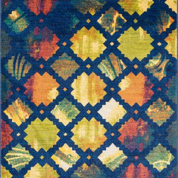 "Loloi Rugs - Loloi Rugs Lyon Collection - Blue / Multi, 7'-7"" x 10'-5"" - If you enjoy admiring artwork on the wall, you may want to consider the Lyon Collection as as painterly masterpiece for your floor. From Egypt, these contemporary rugs have been inspired by Western European and South American watercolor paintings. And because they're power loomed of 100% polypropylene, a durable and stain resistant fiber, the colors will remain vibrant for years ahead."
