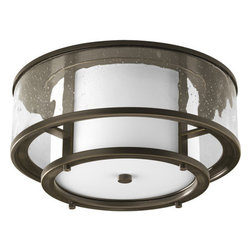 Thomasville Lighting - Thomasville Lighting P3942-20 Bay Court 2 Light Flushmount Ceiling Fixture - Thomasville Lighting P3942-20 Two Light Bay Court Flush Mount Ceiling FixtureAntique Bronze hardware showcases the brilliant use of contrasting glass finishes that will add elegance to any home. Concentric circles of clear seedy hammered and smooth opal glass create a uniquely beautiful effect in this dual light Flushmount ceiling fixture.Bay Court antique nautical lanterns include minimalist undertones and subtle detailing that can add a calming effect to any room. Can be used in traditional and non-traditional fashions � as single pieces or multiples of two or more.Thomasville Lighting P3942-20 Features: