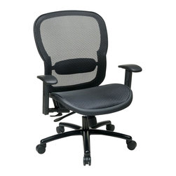 Office Star - Office Star 839 Series Chair with Adjustment Lumbar Support in Black - Office Star - Office chairs - 83911B35WA - Enjoy the office star office chair and get to work in style with this sleek and comfortable office chair. The simplicity and the comfort of the chair can make any office setting look more complete. Featuring black Taiwan Matrix back with Adj. lumbar support.