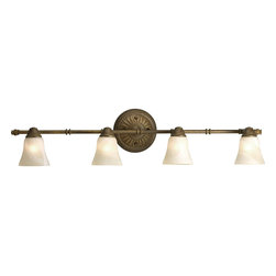 Progress Lighting - Progress Lighting P3858-86WB 4-Light Directional with Antique Alabaster Glass - Progress Lighting P3858-86WB 4-Light Directional with Antique Alabaster Glass