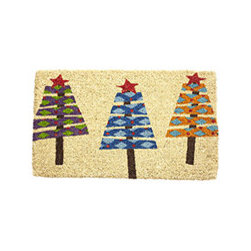 Wonderland Doormat - New - The holidays are here; friends and family are near. Lay out your welcome mats. These holiday-inspired doormats are made from coir and designed with eco-friendly dyes, which makes them durable and good on the environment.
