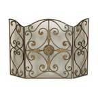 Uttermost - Uttermost 20536 Jerrica Metal Fireplace Screen - Uttermost 20536 Jerrica Metal Fireplace Screen