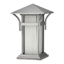 Hinkley Lighting - Hinkley Lighting 2576TT-GU24 Hinkley Lighting 2576AR-GU24 Anchor Bronze 1 Light - Hinkley Lighting 2576 Harbor CFL Pier Mount Light Harbor has an updated nautical feel, with a style inspired by the clean, strong lines of a welcoming