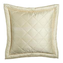 """Ann Gish - Big Diamond"""" European Sham - PEARL - Ann Gish""""Big Diamond"""" European ShamDetailsMade of silk.Select color when ordering.Dry clean.Imported."""