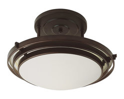 Trans Globe Lighting - Trans Globe Lighting PL-2480 ROB Energy Efficient Indoors Transitional Semi Flus - Trans Globe Lighting PL-2480 ROB Energy Efficient Indoors Transitional Semi Flush Mount Ceiling Light