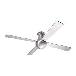 Ball Hugger Ceiling Fan - The hugger configuration of our popular ball ceiling fan, an original Modern Fan Co. Design, is an improved solution for use in low-ceiling environments. the teardrop shape makes a graceful transition from the fan to the ceiling, especially with the use of a down rod.