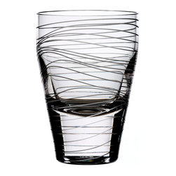 Bomma - Dune Collection 10 oz Crystal Water Glass - Set of 2 - Set of 2 - The Dune 10 oz. crystal water glass is an extraordinary addition to your table setting. Designer Maria Hostinova has created robust pieces marked by cleanly defined shapes mixed with the delicate decor of flowing waves to underscore softness and playfulness with a touch of dynamic movement.