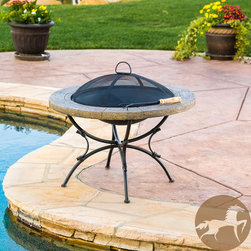 Christopher Knight Home - Christopher Knight Home Admiral Round Fire Pit - For added fun and warmth to your backyard, look no further than the Admiral Round Fire Pit. It's beautiful stone and iron finish are ideal for any outdoor space on those cooler evenings.