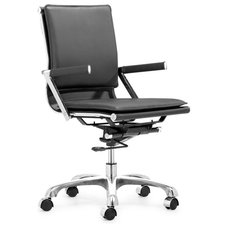 Modern Task Chairs Modern Soft Padded Leatherette Office Chair