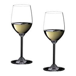 Riedel - Riedel Wine Viognier/Chardonnay Glasses - Set of 2 - Non lead, machine made. Recommended for: Albarino, Aligot, Bouvier,Burgundy, Cahors, Chablis, Chasselas, Chening Blanc, Condrieu, Cortese, Coule de Serrant, Fendant, Fum Blanc, Furmint, Grauvernatsch, Graves blanc, Gutedel, Hermitage, Kerner,Madiran, Marsanne, Melon de Bourgogne, Meursault, Monbazillac, Montagny, Muscadet, Mller Thurgau, Muskateller,Muskateller, Neuburger, Palomino, Pinot, St. Joseph, Sancerre, Sauternes, Sauvignon Blanc, Savignon Smillon, Smillon, Soave, Sptort-Rotgipfler, Sylvaner, Trebbiano, Trockenbeerenauslese, Vernatsch, Vin de Savoie, Viognier, Zierfandler.