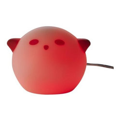 Bodrul Khalique - Spöka LED Nightlight, Red - This is a fun little nightlight option for your children's bedroom.