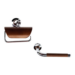Hispania Bath - American Cherry Bathroom Accessories Set 10 - American collection. Elegant and glamorous set for your bathroom. Very suitable for master bathroom, guest bathroom or even for gift. The set includes 10 items: