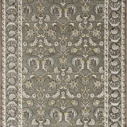 "Loloi Rugs - Loloi Rugs Halton Collection - Grey / Gold, 3'-10"" x 5'-7"" - The colors are vivid and the transitional designs are appealing, but what really stands out in Halton is the details. Take a closer look (or zoom in) and you'll notice Halton was expertly designed with subtle shadings and intricate patterns to give it the appearance of a hand-crafted rug. Power loomed in Turkey, the viscose surface is raised against a chenille base, giving Halton an element of dimension and texture that adds character and enhances perceived value. Also, the viscose surface has an irresistible shimmer, which further adds to its sophisticated appearance."