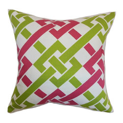 Pillow Collection - The Pillow Collection Fetlar Geometric Pillow - P18-D-20949-BLUEBROWN-C100 - Shop for Pillows from Hayneedle.com! You're not going to find a design more mod than The Pillow Collection Fetlar Geometric Pillow. Made of 100% soft cotton this stunning square pillow features a plush 95/5 feather/down insert for luxurious softness. The designer-inspired geometric print is the kind of bold style that's definitely not for the color-shy. Available in a variety of colors you can get the perfect look for your home.About The Pillow CollectionIdentical twin brothers Adam and Kyle started The Pillow Collection with a simple objective. They wanted to create an extensive selection of beautiful and affordable throw pillows. Their father is a renowned interior designer and they developed a deep appreciation of style from him. They hand select all fabrics to find the perfect cottons linens damasks and silks in a variety of colors patterns and designs. Standard features include hidden full-length zippers and luxurious high polyester fiber or down blended inserts. At The Pillow Collection they know that a throw pillow makes a room.