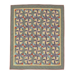 Patch Quilts - Square Diamond Twin Quilt - -Constructed of 100% Cotton  -Machine washable; gentle dry  -Made in India Patch Quilts - QTSQDI