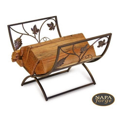 Grapevine Wood Holder in Brushed Copper - Featuring delicate vine and leaf design, the Grapevine Wood Holder from Napa Forge is a great addition to the Grapevine Fireplace Screen. Comes with an elegant brushed copper finish.