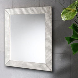 """Gedy by Nameeks - Marrakech Vanity Mirror - Features: -Vanity mirror. -Marrakech collection. -Material: Faux Leather, Mirror. -Shape: Rectangle. -Wall mounted. -For contemporary bathrooms. -Dimensions: 27.6"""" H x 1.2"""" D x 23.6"""" W."""