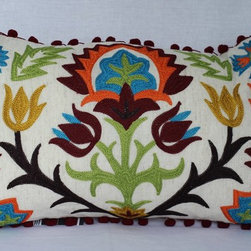 Embroidered Throw Pillows -