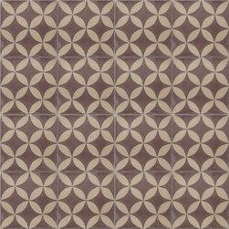 Brown Citrus Cement Tile - BY AMETHYST ARTISAN