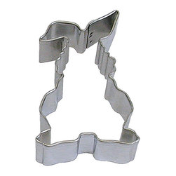 RM - Bunny Rabbit 3.5 In. B1205X - Bunny Rabbit cookie cutter, made of sturdy tin, Size 3.5 in., Depth 7/8 in., Color silver