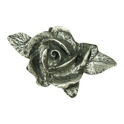 Anne at Home Hardware - Single Rose Knob, Antique Bronze - Made in the USA - Anne at Home customized cabinet hardware enables even the most discriminating homeowner to achieve the look of their dreams.  Because Anne at Home cabinet hardware is designed to meet your preferences, it may take up to 3-4 weeks to arrive at your door. But don't let that stop you - having customized Anne at Home cabinet knobs and pulls are well worth the wait!- Drill Centers - 3  - Available in many finishes.