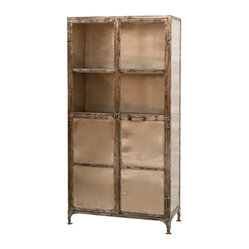 Four Hands - Element Cabinet - Add some heavy metal to your home playlist. With this cabinet, you get a master mix of industrial materials and tidy organization via open and closed storage — and the sleek style won't make you want to bang your head.