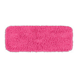 None - Quincy Super Shaggy Pink Washable Bath Runner - Jazz up the bathroom,shower room,or spa with a bright note of color while adding comfort you can sink your toes into with the Quincy Super Shaggy bathroom collection. The pink rug is created from soft,durable,machine-washable nylon.