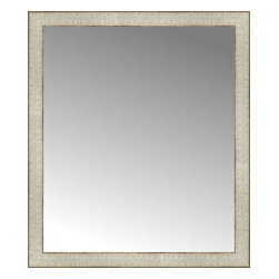 """Posters 2 Prints, LLC - 26"""" x 30"""" Libretto Antique Silver Custom Framed Mirror - 26"""" x 30"""" Custom Framed Mirror made by Posters 2 Prints. Standard glass with unrivaled selection of crafted mirror frames.  Protected with category II safety backing to keep glass fragments together should the mirror be accidentally broken.  Safe arrival guaranteed.  Made in the United States of America"""