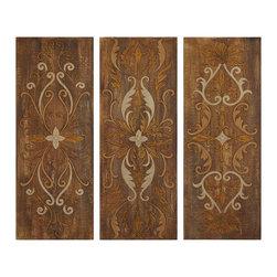Uttermost - Uttermost Elegant Swirl Panels Set/3 - 32169 - Uttermost Elegant Swirl Panels Set/3 - 32169