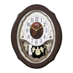 Rhythm - Precious Angels Musical Motion clock - The serene, heavenly theme to this clock gives this model its name; Precious Angels.
