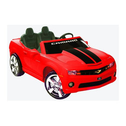 National Products - Kid Motorz Chevrolet Racing Camaro Battery Powered Riding Toy - Red Multicolor - - Shop for Tricycles and Riding Toys from Hayneedle.com! Car fans are going to love the Chevrolet Racing Camaro 12V 2-Seater Battery Powered Riding Toy - Red. Modeled after the full-size Chevy Camaro this ride-on car boasts two forward speeds 2.5 mph and 5.0 mph and one reverse speed 2.5 mph. With room for two this Camaro has it all including an MP3 input and working radio. About National ProductsA leading toy manufacturer and exporter in Hong Kong National Products is part of a group of four firms called the Playmind Ltd. Group. As recognized by peers the company is both a reputable and reliable working partner as well as supplier in the toy and ride-on industry. Most importantly it's not only children who have fun with National Products ride-on products; parents also appreciate the detailed life-like quality and safety of the innovative designs. National meets or exceeds all safety/quality control government guidelines.