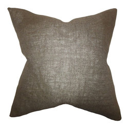 """The Pillow Collection - Ellery Solid Pillow Brown 18"""" x 18"""" - Let this solid piece bring comfort and style to your interiors. This throw pillow features a rich brown hue which complements a variety of home accessories. Place this indoor pillow in your sofa, bed or seat together with patterned pillows. Set an elegant look to your living room or bedroom with this 18"""" pillow."""