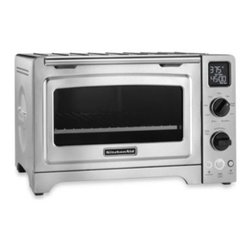 Kitchenaid - KitchenAid 12-Inch Digital Convection Oven - The KitchenAid Digital Convection Oven has full-scale oven amenities in a countertop size. It features 9 pre-programmed functions, a blue non-stick interior for easy cleanup, and Even-Heat technology that guarantees superior precision heating.