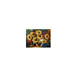 Leonid Afremov - Sunflowers - Palette Knife Oil Painting On Canvas By Leonid Afremov - Oil painting on canvas