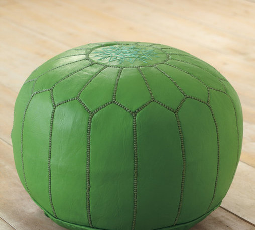 Moroccan Leather Pouf -