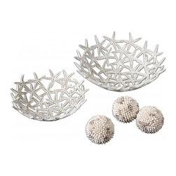 www.essentialsinside.com: starfish decorative beach house bowls with spheres, se - Starfish Decorative Bowls with Spheres, Set Of 5 by Uttermost, available at www.essentialsinside.com