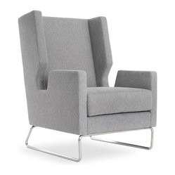 Gus Modern Danforth Chair, Fairmont Limestone