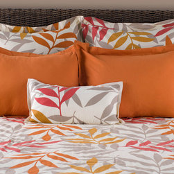 Rizzy Home - Rizzy Home Sunset 7 Piece Bedding Set - Sunny Bedroom DispositionSprigged silhouettes of magenta, marigold, russet, and taupe spread summer style across this comforter and its accenting pillows. Each pillow sham has a flanged edge for simple embellishment - the bright pattern is all this bedding set needs to stand out in the bedroom.All pieces made from 100 percent cotton with a satin finishKing Bedding Set includes: one (1) 106 x 92-inch comforter, three (3) 26 x 26-inch euro shams, two (2) 20 x 36-inch king pillow shams, one (1) 11 x 21-inch throw pillow, and one (1) 78 x 80-inch bed skirt with an 18-inch dropQueen Bedding Set includes: one (1) 90 x 92-inch comforter, two (2) 26 x 26-inch euro shams, two (2) 20 x 26-inch standard shams, one (1) 11 x 21-inch throw pillow, and one (1) 60 x 80-inch bed skirt with an 18-inch dropPillow sham inserts and headboard not includedMade in India
